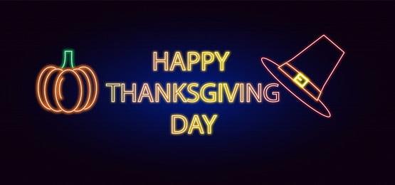 धन्यवाद दिवस नियॉन शैली की पृष्ठभूमि, नीयन, धन्यवाद, खुश पृष्ठभूमि छवि