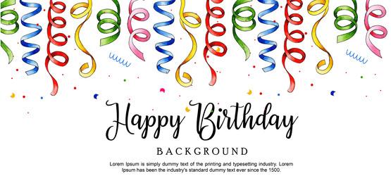 जल रंग रिबन जन्मदिन मुबारक पृष्ठभूमि, पानी के रंग का, रंग, रंग पृष्ठभूमि छवि