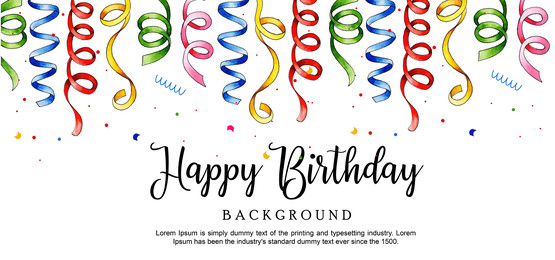 watercolor ribbon happy birthday background, Watercolor, Color, Paint Background image