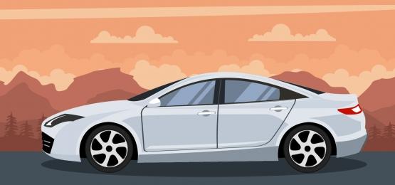 nền xe hiện đại màu trắng trên một hoàng hôn trên bãi biển, Thiết Lập, Xe Thể Thao đa Dụng, Bộ Phối Hợp Ảnh nền