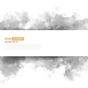 抽象的な灰色インククラウドフレームと白い旗 , 煙, 黒, 旗 背景画像