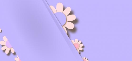 बैंगनी पेस्टल पृष्ठभूमि पर 3 डी फ्रेम के पीछे फूल, पृष्ठभूमि, 3 डी, कागज पृष्ठभूमि छवि
