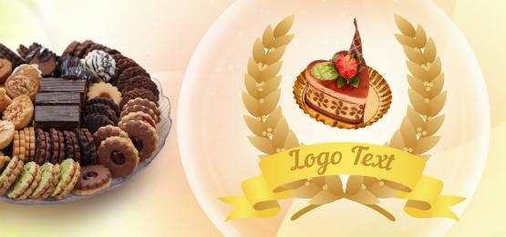 ゴールドの背景とpetitfour sweetdisertロゴのテキスト, ゴールド, ゴールド背景, ロゴ 背景画像