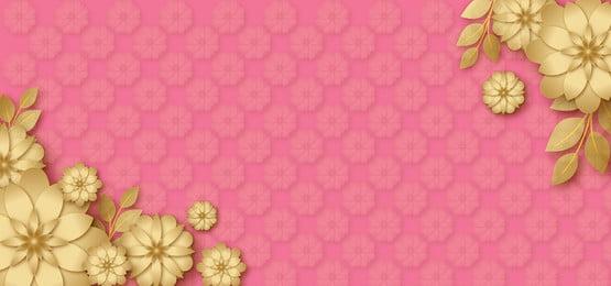 golden flower glitter sparkle in pink background design, Pink, Pink Pastel, Golden Stars Background image