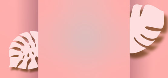 pink pastel background with paper leaves cutouts, Pink, Pastel, Background Background image