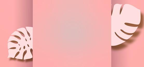 nền pastel màu hồng với giấy cắt lá, Màu Hồng., 粉彩, Nền Ảnh nền