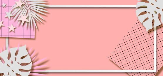 pink pastel background with patterned paper and leaves, Dotted, Patterns, Leaves Background image