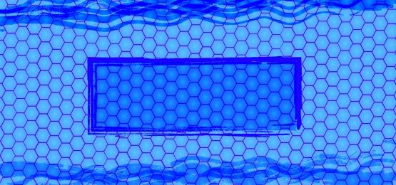 सरल नीले छत्ते पैटर्न पृष्ठभूमि, नीला सफेद, बहुभुज, छत्ते पृष्ठभूमि छवि