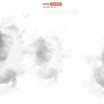 抽象的な灰色のインク雲と白い旗 , 煙, ベクター, グラフィック 背景画像