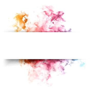 अमूर्त रंग स्याही बादल के साथ सफेद फ्रेम बैनर , छप, रंग, पानी के रंग का पृष्ठभूमि छवि
