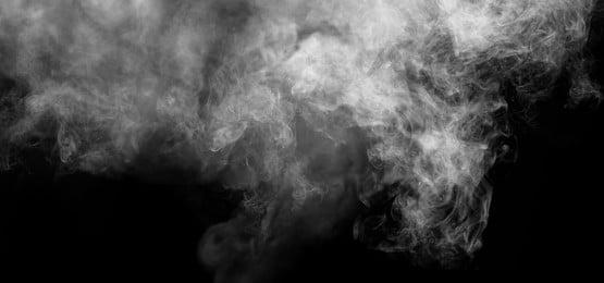 white smoke falling on black background, Smoke, Background, Clouds Background image