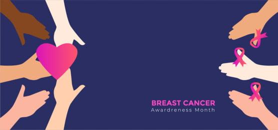 स्तन कैंसर अभियान बैनर, दान, आइकन, अवधारणा पृष्ठभूमि छवि