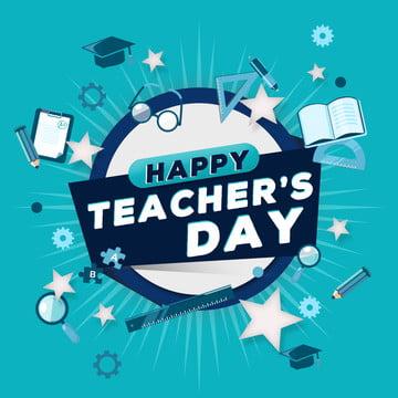 幸せな先生の日 , 学校教育, ブルー, 学生 背景画像