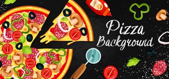 fundo de pizza, Alimentos, Fast Food, Pizza Imagem de fundo
