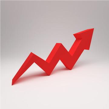 3d arrow growth up concept zigzag , Progress, Infographic, Presentation Background image