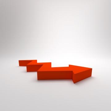 3d arrow zigzag growth up concept for presentation background , Progress, Infographic, Presentation Background image