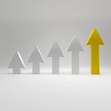 3d arrows graph of goal success business high profit concept , Progress, Infographic, Presentation Background image