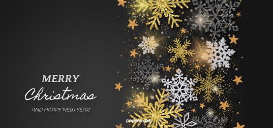 الملمس الأسود أبيض وأسود الذهب عيد الميلاد ندفة الثلج ضوء تأثير الخلفية, Snowflake, نسيج, نسيج صور الخلفية