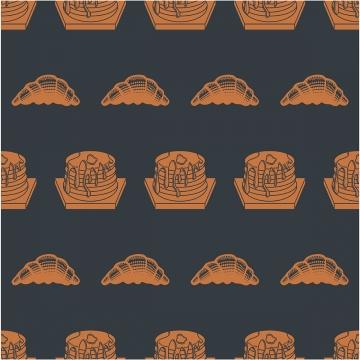 lancar corak bakeri produk cupcake latar belakang hitam , Lancar, Latar Belakang, Corak imej latar belakang