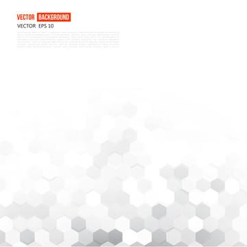 ग्रे ज्यामितीय हेक्सागोन्स के साथ सफेद फ्लायर , षट्भुज, हेक्सागोनल, पैटर्न पृष्ठभूमि छवि