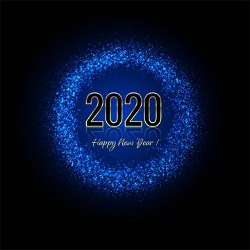 2020 gembira tahun baru glitter vektor latar belakang biru , Dua Puluh Dua Ribu, Tahun, Kalendar imej latar belakang