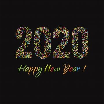 beautiful dotted 2020 new year card celebration background , 2020, Year, Calendar Background image