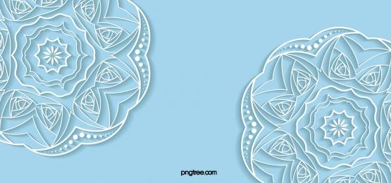 파란색 입체 레이스 웨딩 배경, 푸른색, 종이를 오리다, Stereoscopic 배경 이미지