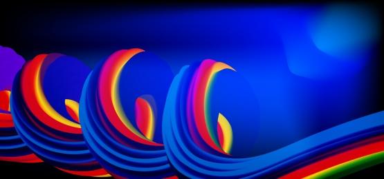 đầy màu sắc 3d chất lỏng trừu tượng hình nền hợp thời trang, Sự Kiện, Chế độ, Đường Cong Ảnh nền