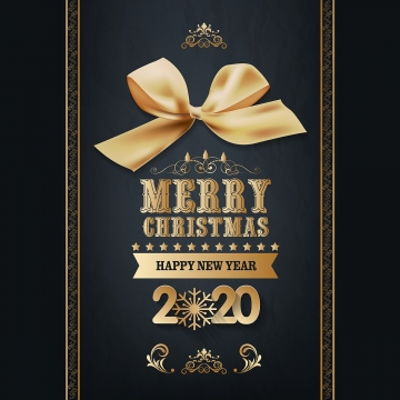 gold ribbon merry christmas 2020 , Festive, Flyer, Gold Background image