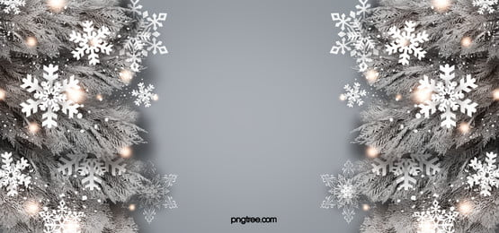 white snowflake light effect christmas realistic plant background, White, Light Spot, Coniferous Background image