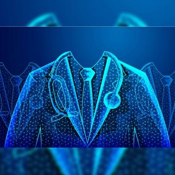 अमूर्त स्वास्थ्य चिकित्सा विज्ञान में डॉक्टर डिजिटल वायरफ्रेम शामिल हैं , सार, पृष्ठभूमि, नीले पृष्ठभूमि छवि