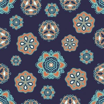 الرسم العرقي الآسيوية نمط سلس ماندالا زخرفة ناقلات التوضيح جاهزة للأزياء النسيج الطباعة , زخرفة, ماندالا, القبلية صور الخلفية