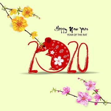 trung quốc năm mới 2020 năm của chuột , 二千零二十, Năm Mới 2020, Nền Ảnh nền