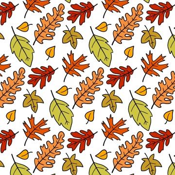 かわいい紅葉落書きパターン , パーティー, スケッチ, 祝い 背景画像