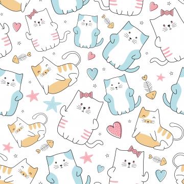 फैशन कपड़ा लपेटने और प्रिंट वेक्टर चित्रण हाथ से तैयार की गई सुंदर बिल्ली सहज पैटर्न के साथ प्यारा बिल्ली सहज पैटर्न बच्चों और बच्चों के परिधान के लिए मजेदार बिल्ली का बच्चा , पैटर्न, सार, बच्चे पृष्ठभूमि छवि