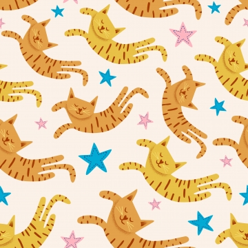 बच्चों के बच्चों के लिए नींद बिल्ली का बच्चा बिल्ली सजावट पृष्ठभूमि की अजीब ड्राइंग वेक्टर बनावट के साथ सुंदर बिल्लियों सहज पैटर्न , पैटर्न, सुंदर, चित्रण पृष्ठभूमि छवि