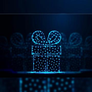 Подарочная коробка абстрактный низкий поли каркасной сетки фон вектор плохо , счастлив, сюрприз, в настоящее время Фоновый рисунок