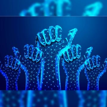 व्यापारी का हाथ अंगूठे के साथ कई हाथ प्रतिक्रिया सार , व्यापारी, मानव, कनेक्ट पृष्ठभूमि छवि