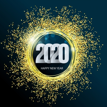happy new year 2020 merry christmas gold background design , 2020, 2020 New Year, Background Background image