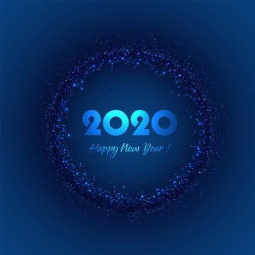 selamat tahun baru 2020 dengan glitter pada latar belakang biru , Dua Puluh Dua Ribu, Tahun, Kalendar imej latar belakang