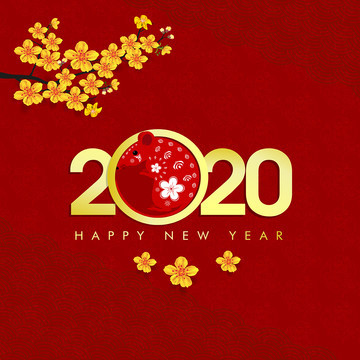 merry christmas happy chinese new year 2020 , 2020, 2020 New Year, Background Background image