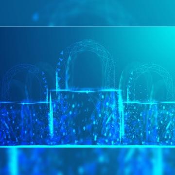 Полигональная сетка замка выглядит на синем фоне кибербезопасности безопасной конфиденциальности или другой концепции векторные иллюстрации , рисунок, геометрическая, многоугольник Фоновый рисунок