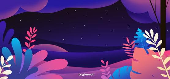 ग्रेडिएंट प्लांट रोमांटिक बैकग्राउंड, संयंत्र, जंगल, पत्ते पृष्ठभूमि छवि