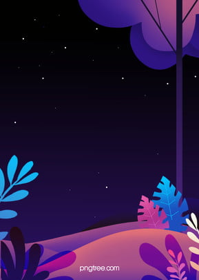 purple night stars plant background, Night, Stars, Purple Background Background image