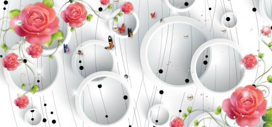 3d hình nền hoa trừu tượng cho các bức tường, 3d Hình Nền Hoa Trừu Tượng Cho Các Bức Tường, Hoa Hồng Màu Hồng Nhạt, Giấy Dán Tường Ba Chiều Ảnh nền