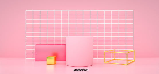 3d 기하학적 입체 핑크 미니멀리스트 부스, 기하, 전시대, Stereoscopic 배경 이미지