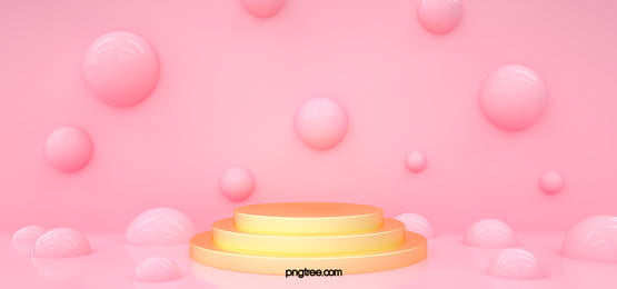 3d pink sphere golden stage, Fashion, Sphere, Geometric Background image
