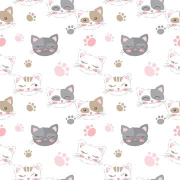 बच्चों परियोजना पृष्ठभूमि और कई और अधिक के लिए सहज पैटर्न में आराध्य बिल्ली चित्रण , सार, आराध्य, पशु पृष्ठभूमि छवि