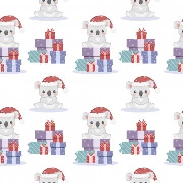 adorable christmas animal seamless pattern for decoration , Adorable, Animal, Background Background image