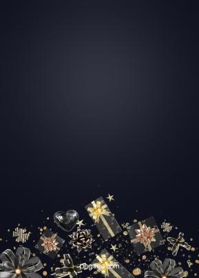 黑金禮物禮盒彩帶節日背景 , 蝴蝶結, 漸變, 彩帶 背景圖片